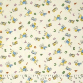 Aunt Grace - Alphabet Blue Yardage