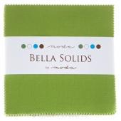 Bella Solids Fresh Grass Charm Pack