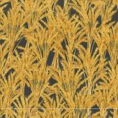 Giving Thanks - Wheat Black Metallic Yardage