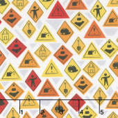 Detour Ahead! - Road Signs White Yardage