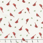 Cardinal Woods - Mini Cardinal Toss Cream Multi Yardage