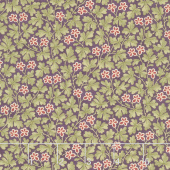 Mill Creek Garden - Leaves & Flowers Purple Yardage
