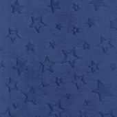 "Cuddle Embossed Star - Midnight 60"" Minky Yardage"
