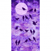 Artisan Spirit - Imagine Novelty Bird Purple Digitally Printed Panel