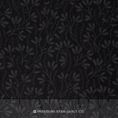 Wilmington Essentials - Midnight Sprouts Black on Black Yardage