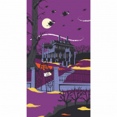 Haunted House - Halloween Purple Panel