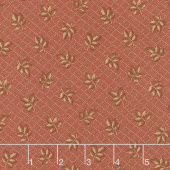 Hickory Road - Leaves Brick Red Yardage