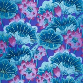 Kaffe Classics - Lake Blossom Blue Yardage