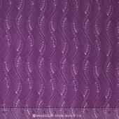 Fresh Lilacs - Purple Wavy Stripe Yardage