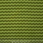 Pumpkin Party Flannel - Stitched Stripe Green Yardage