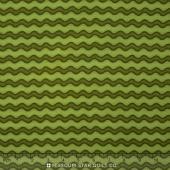 Pumpkin Party Flannel - Stitched Stripe Green Yardage