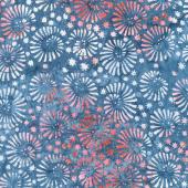 Tonga Batiks - Firework Snazzy Swirls Patriot Yardage