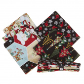 Holly Jolly Christmas 5 Easy Pieces Fat Quarter Bundle