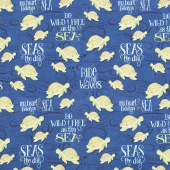 Water Wishes - Sea Turtles Navy Yardage