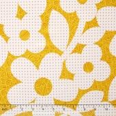 NOE - Dots and Loops Ochre Yardage