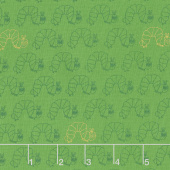 The Very Hungry Caterpillar - 50th Anniversary Edition Anniversary Caterpillar Green Yardage