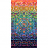 Flourish - Woven Rainbow Multi Digitally Printed Panel
