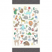 A to Zoo - Animal ABC Ivory Panel