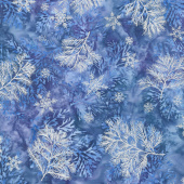 Artisan Batiks - Northwoods 7 Branches Winter Metallic Yardage