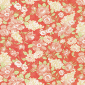 Farmhouse II - Farmhouse Blooms Tomato Yardage