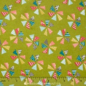 Mixed Bag 2017 - Pinwheels Grass Flannel Yardage
