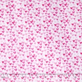 Fairy Tale - Hearts Pink Yardage