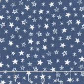Soft & Sweet - Star Light Star Bright Navy Flannel Yardage