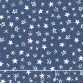 Soft & Sweet - Star Light Star Bright Navy Flannel Yardage
