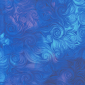 Awaken - Swirl Blue Yardage