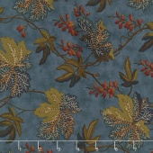 Sycamore - Fall Leaves Teal Yardage