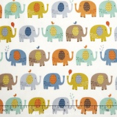 Baby Jungle - Elephants Cream Yardage