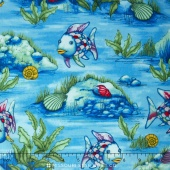 The Rainbow Fish - Underwater Blue Metallic Yardage