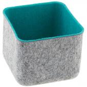 Felt Square Storage Bin - Jade