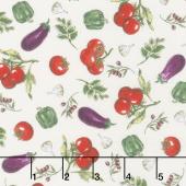 Bella Toscana - Vegetables Ivory Yardage