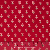 Simply Chic - Floret Red Yardage