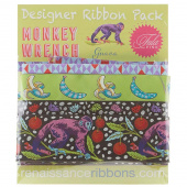 Tula Pink Monkey Wrench Designer Ribbon Pack - Guava