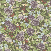 Fresh Off the Vine - Floral Earth Brown Yardage
