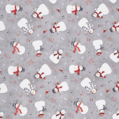 Snowy Wishes - Snowman Toss Gray Yardage