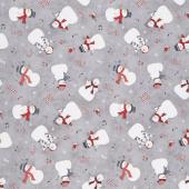 Snowy Wishes - Snowman Toss Gray Yardage