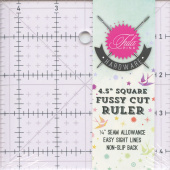 "Tula Pink 4.5"" Square Ruler with Unicorn"