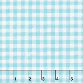 Bake Sale 2 - Gingham Aqua Yardage