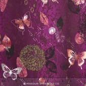Shiny Objects - Jewels Menagerie Larkspur Metallic Yardage