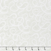"Infinity - Paisley Script Light Gray 108"" Wide Backing"