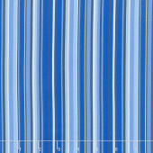 Provencial - Provencial Plain Stripe Blue Yardage
