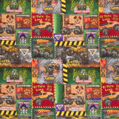 Monster Jam - Monster Truck Patch Multi Yardage