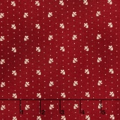 Liberty Hill - Daisy Dot Red Yardage
