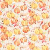 Autumn Day - Packed Pumpkins Tan Yardage