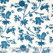 Hamilton - From Eliza Hamilton's Era c. 1770-1790 Main Floral Blue Yardage