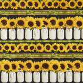 Sunflower Farm - Sunflower Stripe Yardage