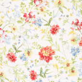 Sketchbook Garden - Large Allover Cream Yardage